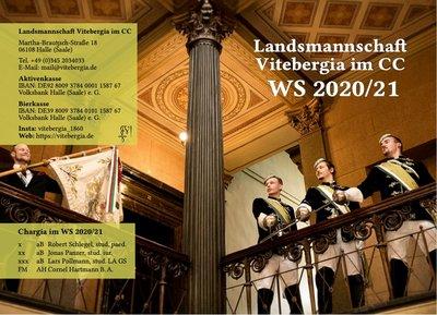 Semesterprogramm der L. Vitebergia Halle im WS 2020/21