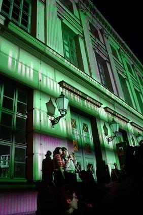 Halluminiertes Löwengebäude