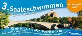 Banner Saaleschwimmen 2009